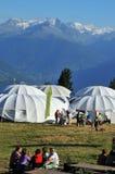 alpina horns Royaltyfri Fotografi