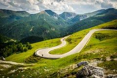 Alpina road. At summer-Nockalmstrasse, Nockberge, Carinthia, Austria Royalty Free Stock Photos
