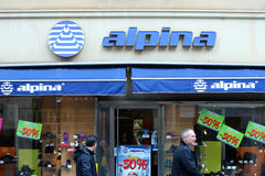 Alpina store shopwindow Stock Photo