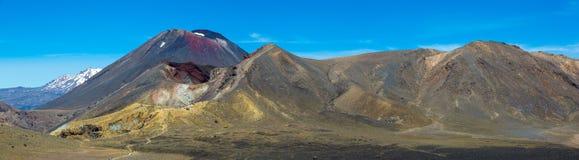 Alpine Überfahrt Tongariro - Nationalpark Tongariro stockbild