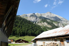 Alpine 024. A view in an alpine village Royalty Free Stock Photo