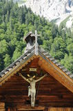 Alpine 037. A detail view at a small chapel in an alpine village Stock Photography
