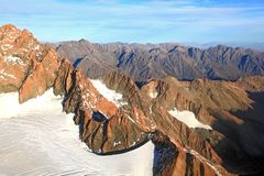 Alpine alps from Mount cook in New Zealand Stock Photography