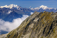 Alpine Alps mountain landscape at Jungfraujoch, Top of Europe Sw Stock Photography