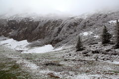 Alpine Alps mountain landscape at Jungfraujoch Stock Photography