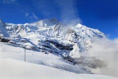 Alpine Alps mountain landscape at Jungfraujoch Stock Image
