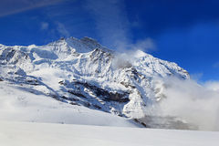 Alpine Alps mountain landscape at Jungfraujoch Royalty Free Stock Images