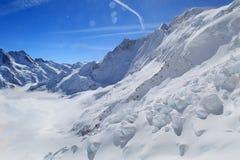 Alpine Alps mountain landscape at Jungfraujoch Royalty Free Stock Photos