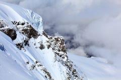 Alpine Alps mountain landscape at Jungfraujoch Royalty Free Stock Photo