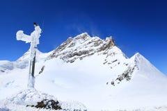 Alpine Alps mountain landscape at Jungfraujoch Stock Photo