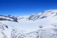 Alpine Alps mountain landscape at Jungfraujoch Royalty Free Stock Image