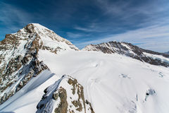 Alpine Alps mountain landscape at Jungfraujoch Stock Images