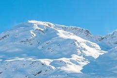 Alpine Alps mountain landscape at St Moritz Stock Images