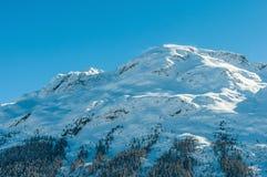 Alpine Alps mountain landscape at St Moritz Stock Photography