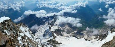 Alpine Ansicht von Margherita-Hütte stockbild