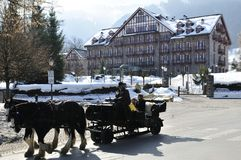 Scenery in Kitzbuhel Royalty Free Stock Photography