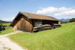 Alpine barn Royalty Free Stock Photos