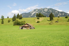 Alpine barn Stock Photography