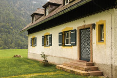 Alpine bavarian house.St Bartholoma.Konigssee.Germany Royalty Free Stock Images