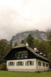 Alpine bavarian house.St Bartholoma.Konigssee.Germany Royalty Free Stock Photos