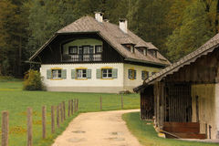 Alpine bavarian house.St Bartholoma.Konigssee.Germany Stock Photos