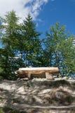 Alpine bench Stock Images