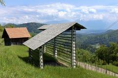 Alpine Berge und Wiesen Lizenzfreie Stockfotografie