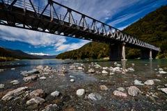 Alpine Brücke Stockfotografie