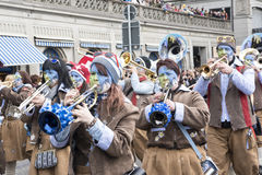 Alpine brass band stock photography