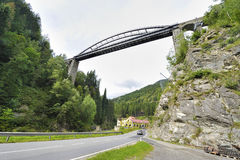 Alpine Bridge Stock Image