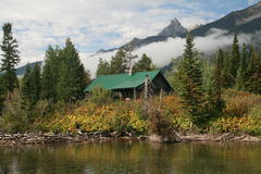 Alpine cabin Stock Photography