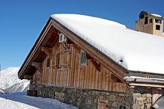 Alpine cabin Stock Photo