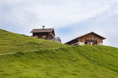 Alpine cabin. Alpin cabin on the meadows in the Tirolean alps Stock Photography