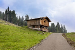 Alpine cabin. Alpin cabin on the meadows in the Tirolean alps Royalty Free Stock Image