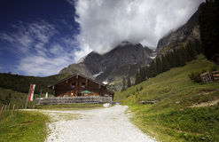 Alpine Cabin in Austria Royalty Free Stock Photos