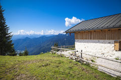 Alpine cabin in the Bavarian mountains Royalty Free Stock Photo