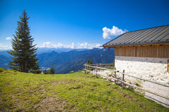 Alpine cabin in the Bavarian mountains Stock Photography