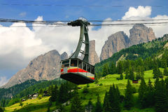Alpine cableway Stock Images