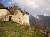 Alpine Castle. Castle in the Swiss Alps royalty free stock images