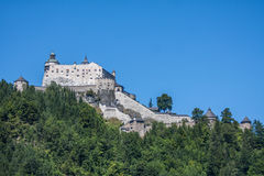 Alpine castle Werfen Hohenwerfen near Salzburg, Austrian Alps, Royalty Free Stock Photo