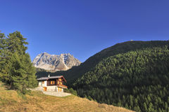 Alpine chalet Royalty Free Stock Photo