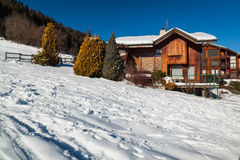 Alpine chalet. Photo taken in Morzine. France Royalty Free Stock Photography