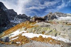 Alpine chalet Teryho chata in High Tatras mountains, Slovakia Royalty Free Stock Image