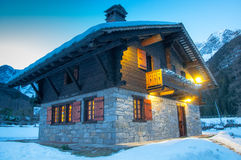Alpine chalet Royalty Free Stock Photography