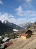 Alpine Chalets Stockbilder