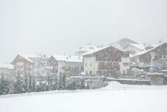 Alpine Chalets, Nord-Italien Stockfoto