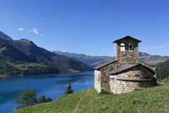 Alpine Chapel Royalty Free Stock Photography