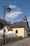 Alpine chapel Stock Images