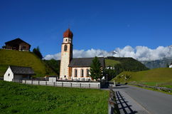 Alpine church Stock Photo