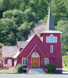 Alpine Church, Occidental, California stock images